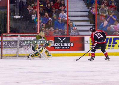 Blandisi on the penalty shot.  He shoots!  He scores!