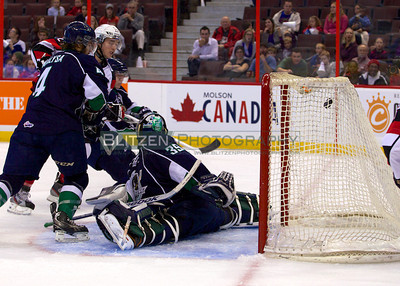 Brendan Bell scores on the rebound.