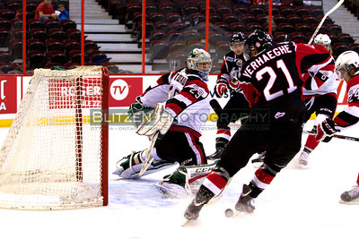 One of many early saves by Phillippe Trudeau.