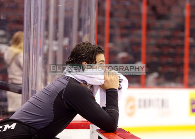 Blandisi in contemplation before the game.