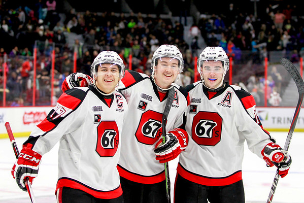 This season's leadership group and linemates:  Konecny, Bell and Bradford