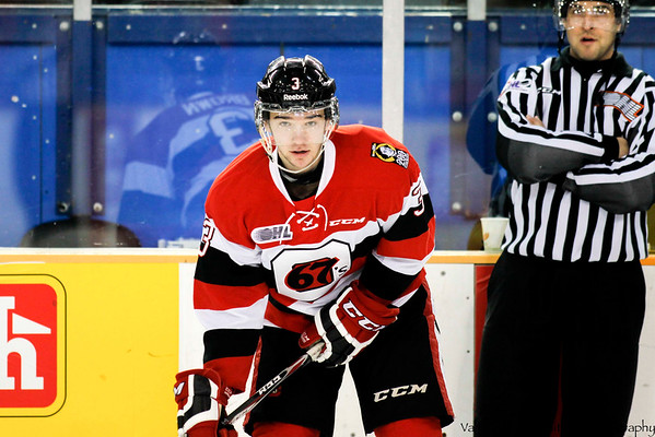 Call-up Willa  Brown in his first OHL game