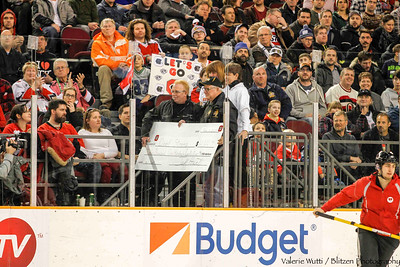 The Doef Strong event at a recent Ottawa 67's game raised over $12,000.  Jeff Hunt presents the cheque to Neil's grandfather.