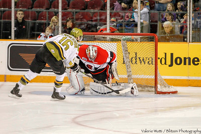 Liam Herbst with one of his perfect 5 stops in the shoot-out.