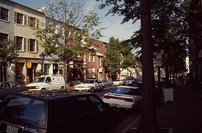 Washington D.C. Alexandria. British Buildings.. American Cars