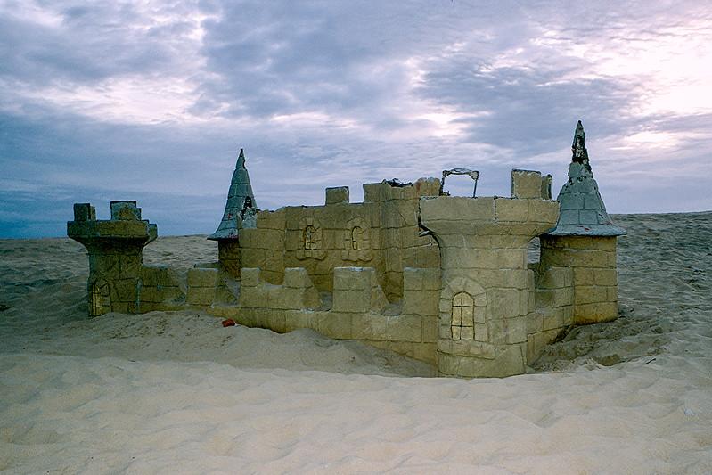 Jockey Ridge - Partially exposed Putt Putt Castle - 2000