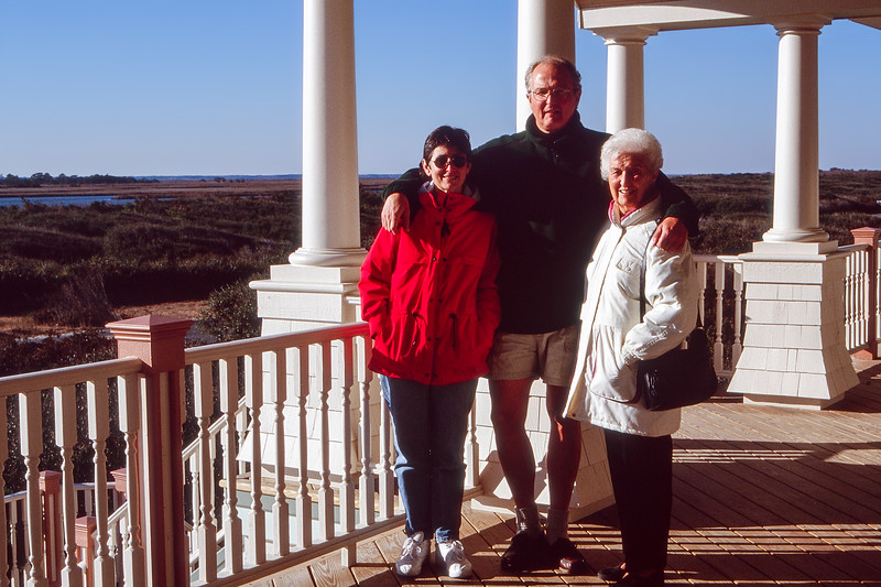 1st trip to the Outer Banks - Mercedes, Robert & Mom - 1996