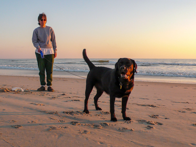 Megan & Mercedes on the beach at sunrise - October 15