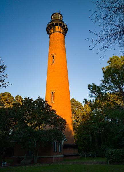 Sundown approaching by Currituck Lighthouse - Nov. 11