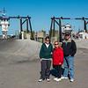 Mercedes, Joy & Bob awaiting ferry to Ocracoke Island