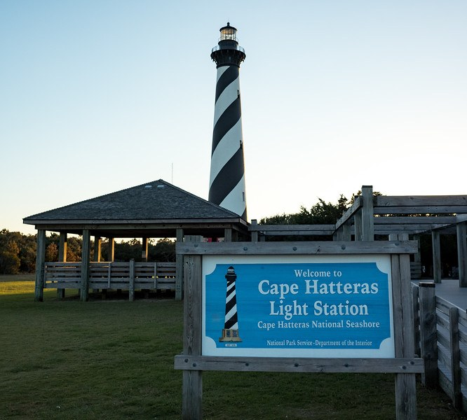 Cape Hatteras lighhouse just prior to sunset