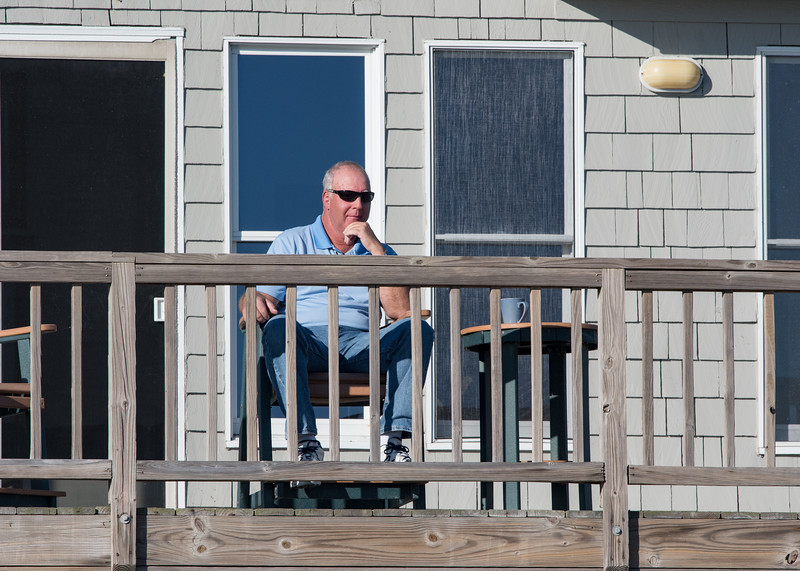 Bob chilling on the deck with his morning coffee - October 29th