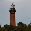Currituck lighthouse with lamp on