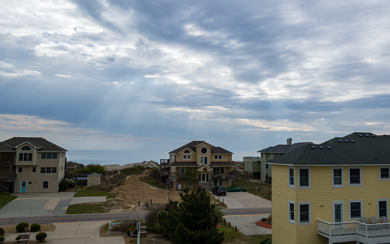View of the ocean from the top deck of the house