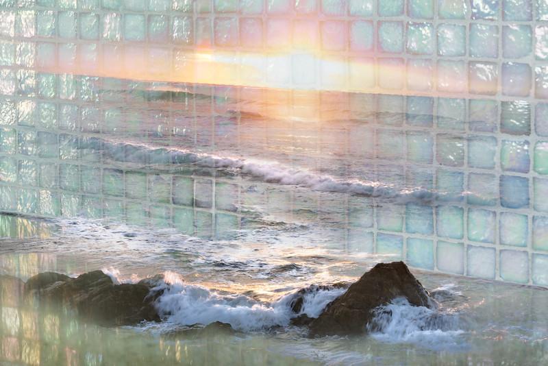 Countertop Sunset Splash
