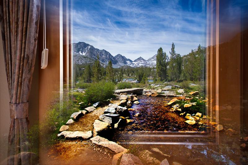 Creekside Path through Window