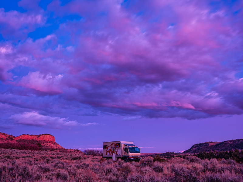 """Fuso and clouds"", Pioneers Point, Gunnison, Colorado"
