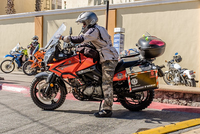 17 Jan 2017. Cabo - outside The Office bar. This guy and his buddy rode down from Canada! Fuji X100T.