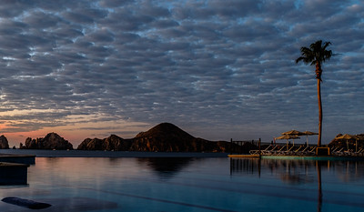 11 Jan 2017. Sunrise from the pool at the RIU Santa Fe, Cabo. Fuji X100T