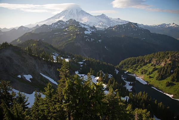 Fairy tale like wilderness in the shadow of mighty Mount Rainier in Washington.