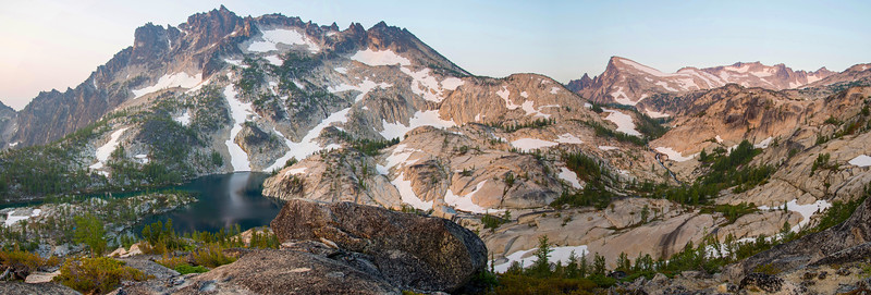 The sparkling lakes and granite slabs of the mighty Enchantments in the Alpine Lakes Wilderness in Washington