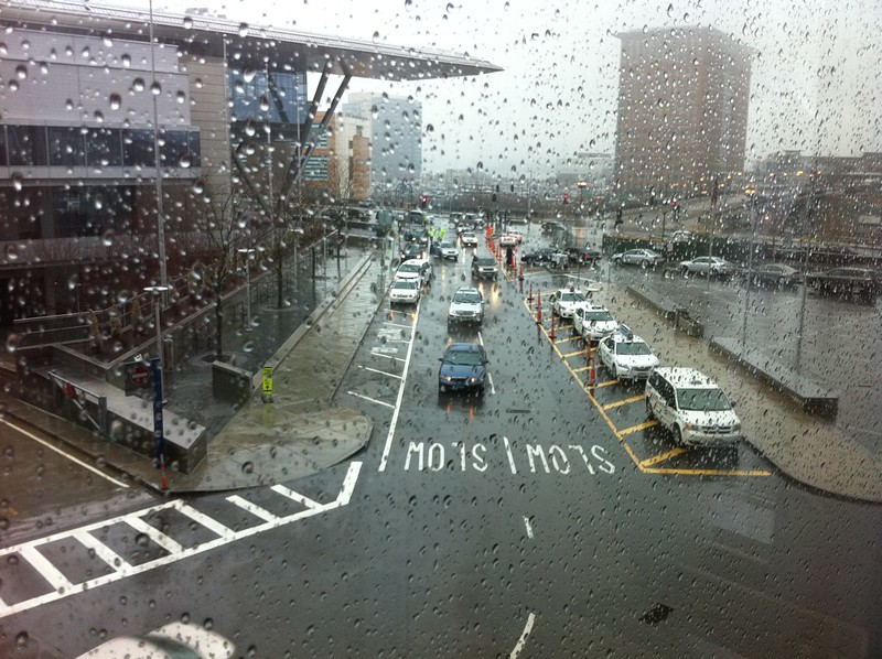 A rainy Friday morning at PAX
