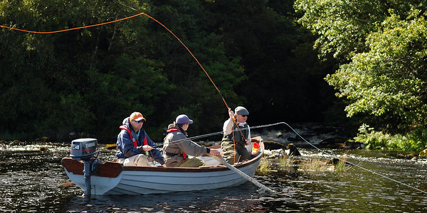 Boat flyfishing party-Lough Furnace-Mayo-salmon anglers