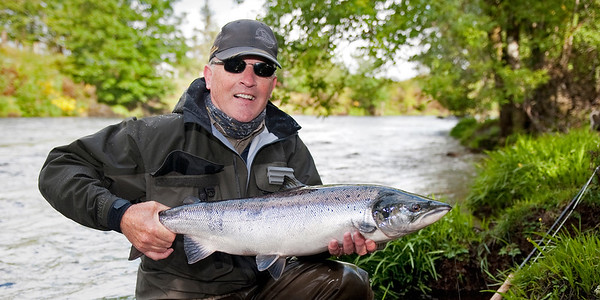 River Finn - Lovely fly caught salmon from the River Finn, Glenmore, Co Donegal, Ireland