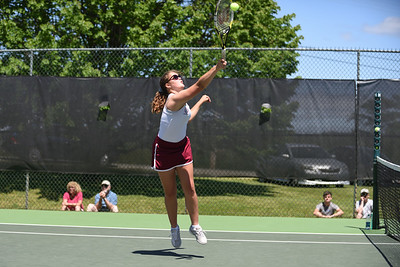 Chloe Politte, Girls 1st Doubles.  Photo by Franklin Brown