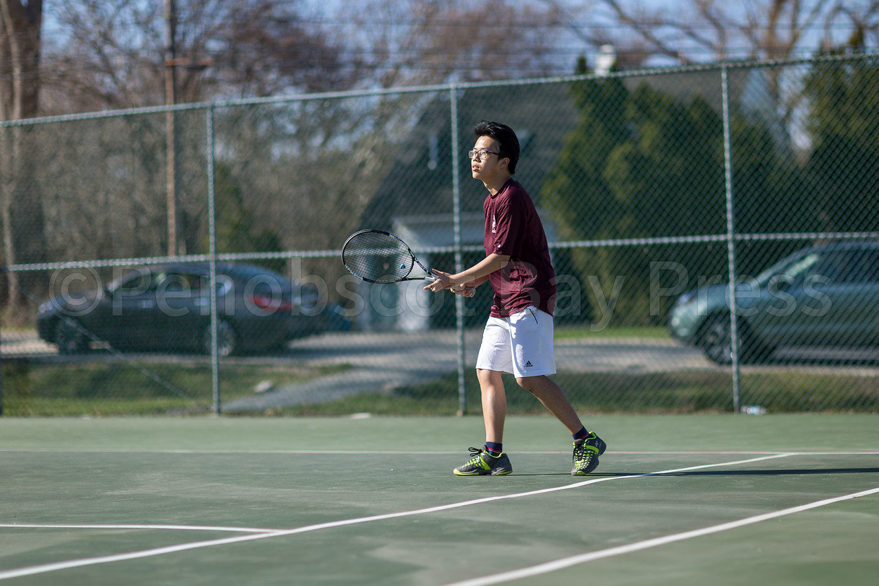 Rhett Cheng sets up for his return. Photo by Tate Yoder