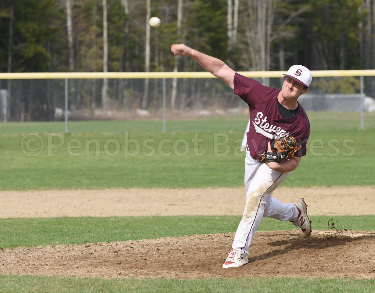 Jake Keenan pitches for GSA in the 7th inning.  Photo by Franklin Brown