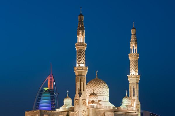 Mosque at Umm Suqeim near Burj al Arab hotel