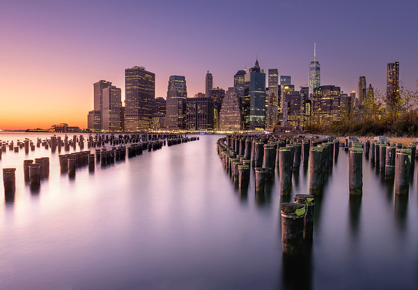 New York skyline during the blue hour