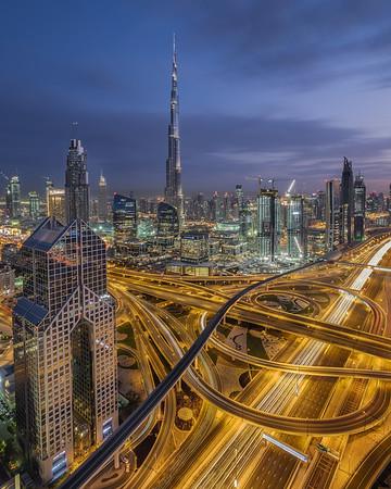 New Dubai at night