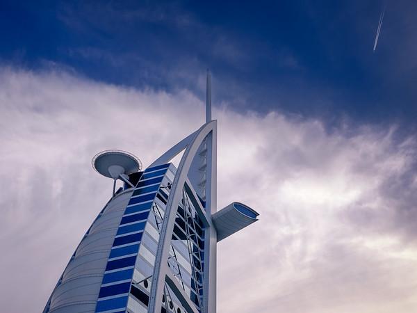 Flying to the Burj al Arab