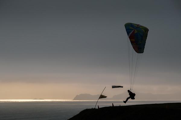 Paragliders at Miraflores, Peru