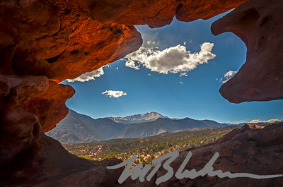 Window Rock View of Pikes Peak