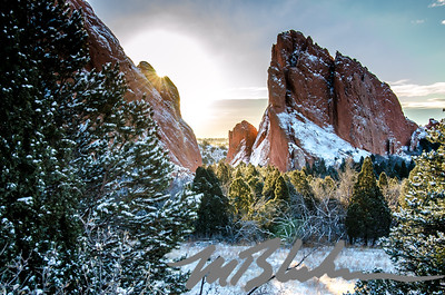 Winter Sunrise at the Garden of the Gods