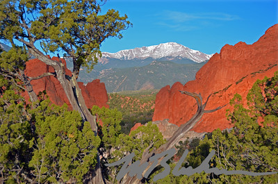 Pikes Peak Through Gateway Rocks