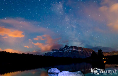 Milky way over Two Jack Lake  Banff National Park, Alberta Canada