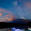 Milky way over Two Jack Lake <br /> Banff National Park, Alberta Canada
