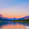 Sunset over Maligne Lake in Jasper National Park
