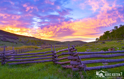Sunrise along the Last Dollar RD near Ridgway, CO