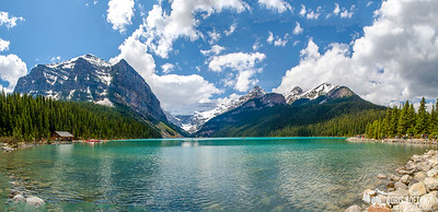 Panorama of Lake Louise, Banff National Park Canada