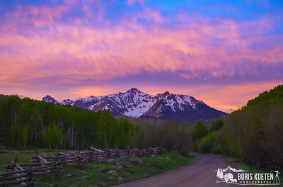 Sunrise near Ridgway Colorado