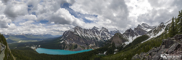 Lake Louise Panorama from beehive overlook, Banff National Park Canada