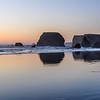 Lone Pacific Coast House at Sunset