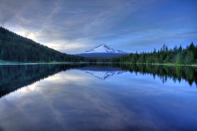 Mt.Hood reflected in Trillium Lake