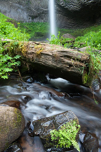 Latourell Falls with stream