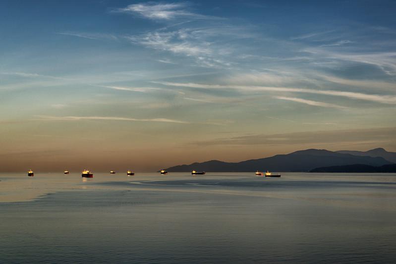 Sunrise in English Bay